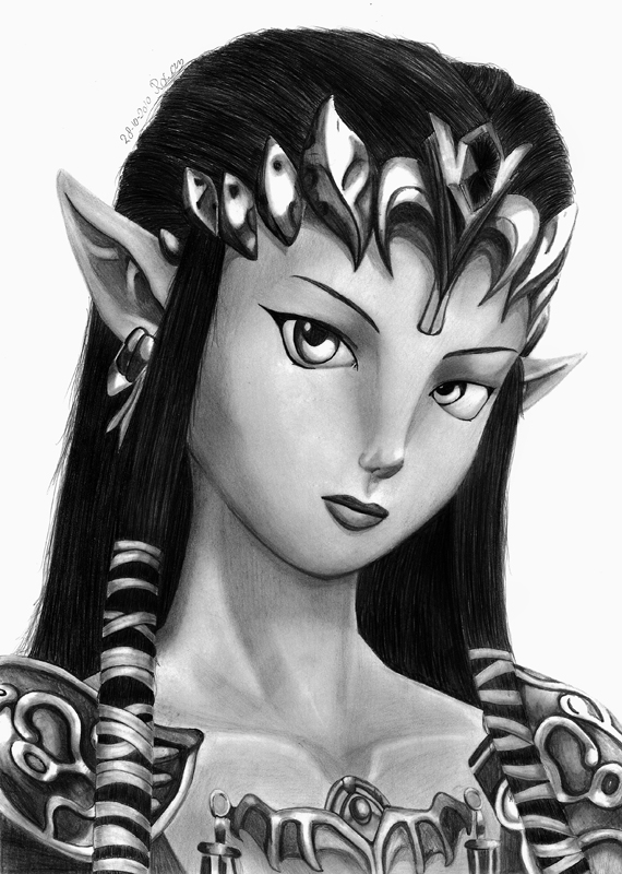 Princess zelda by Rowena-white