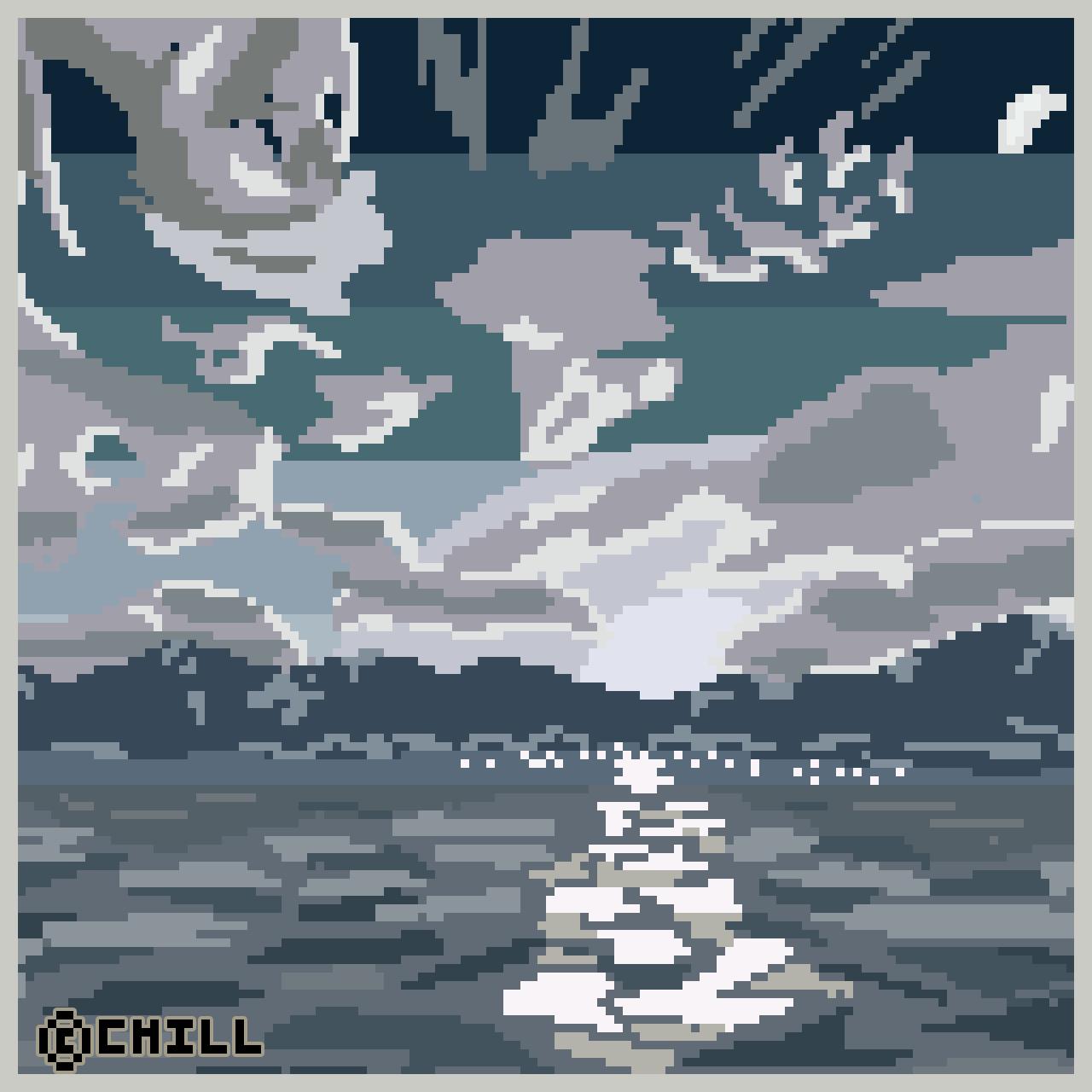 Infinite Azure Pixel Art by RubidiumHawk
