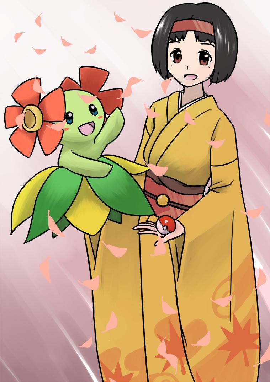 Erika and Kireihana (Bellossom) by Ryu_Warrior