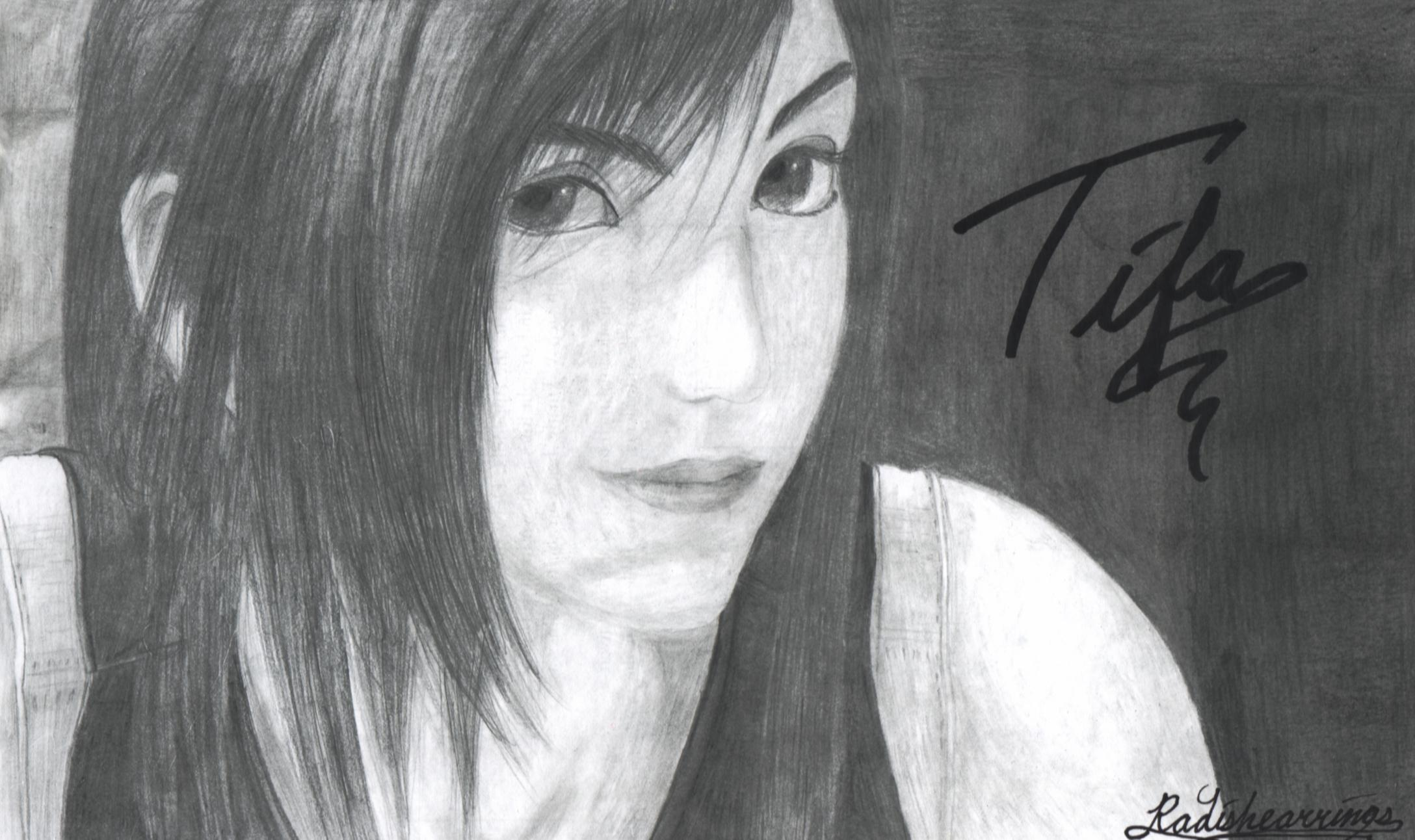 My Attempt At A Realistic Tifa by radishearrings