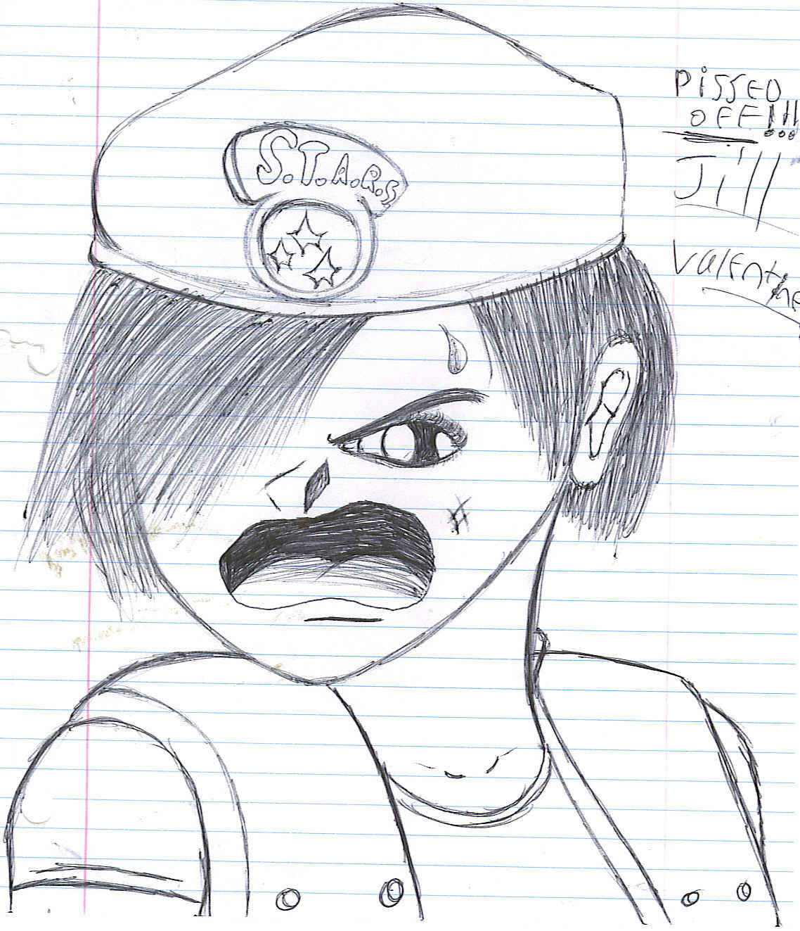 Pissed Off Jill(Chibi) by resident_evil_fan_