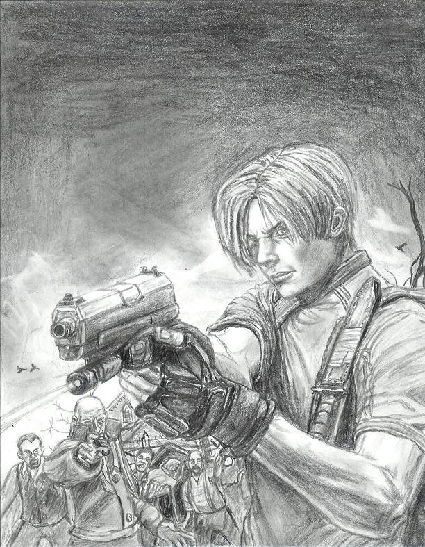 Leon on PS2 cover by restless_dreamer