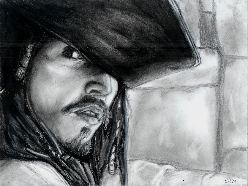 Jack Sparrow (art trade w/Xiakeyra) by restless_dreamer