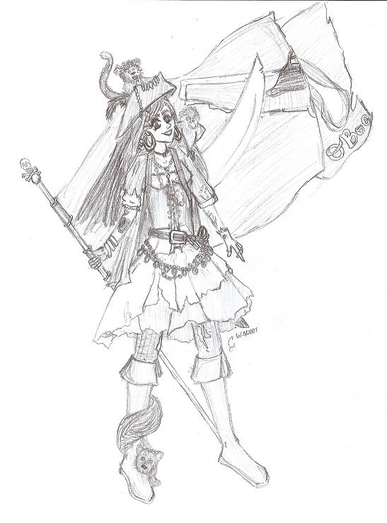 Pirate Captain Olivia Boe by restrictedtruth