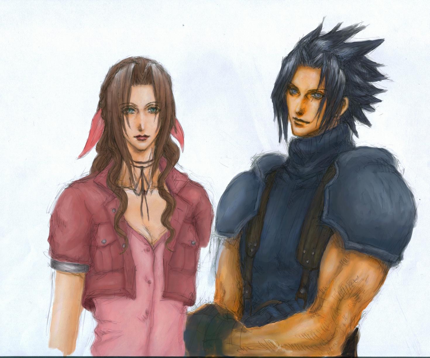 Aeris & Zack by ringo0210