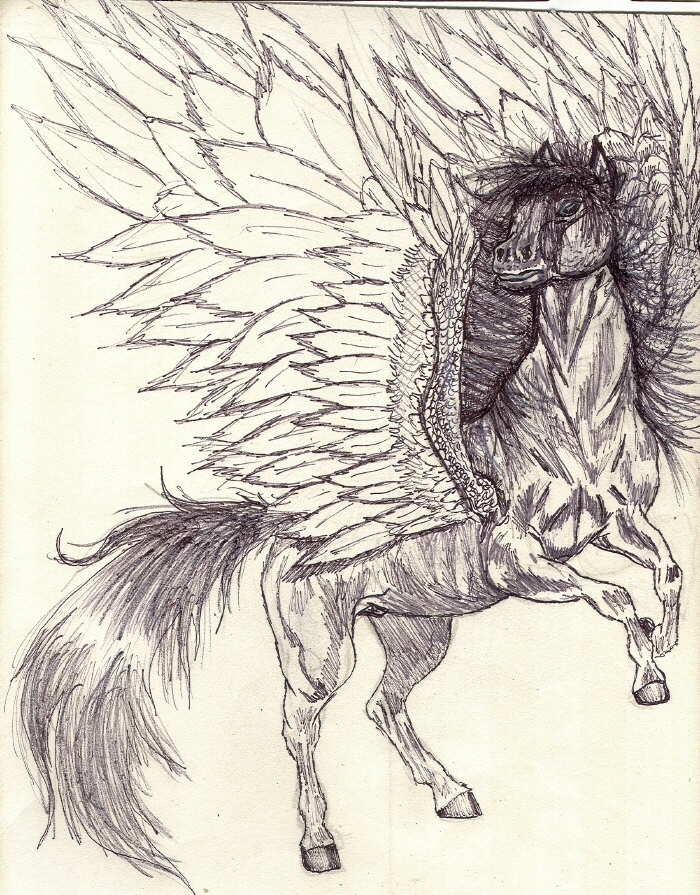 Mini-Horse Pegasus by rolla_roach