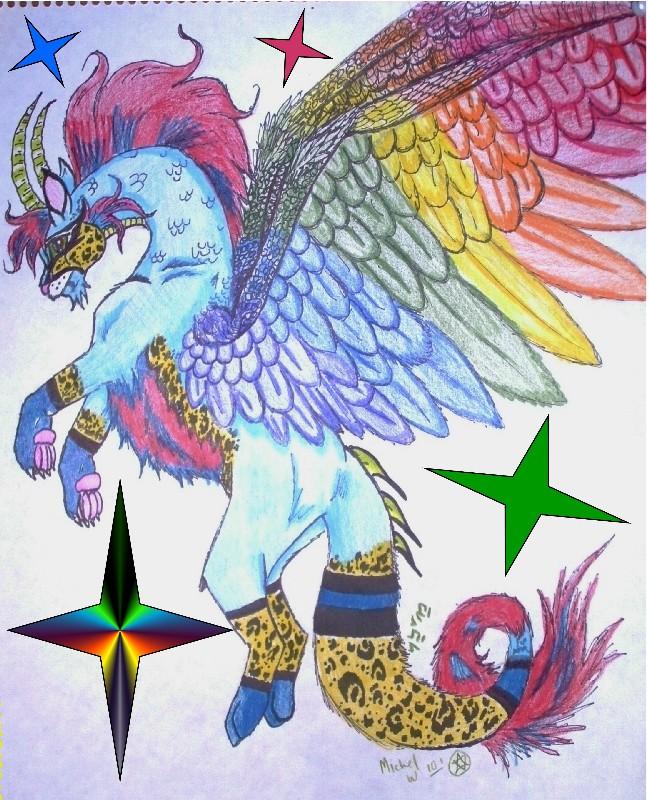 Rainbow Dragon by rolla_roach