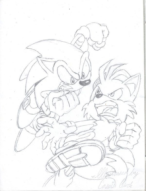 Sonic and Tails by ronnie343
