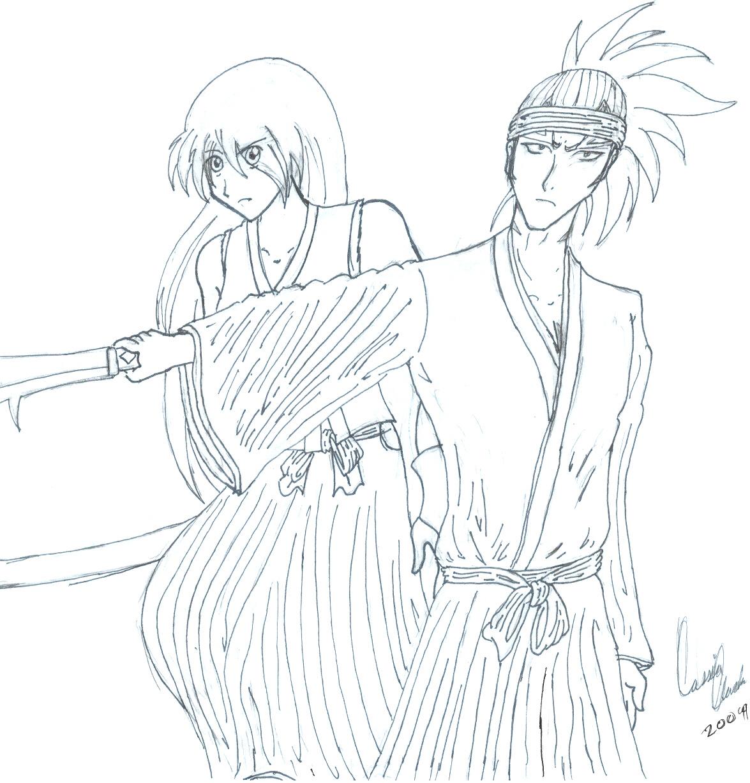 Rentora Urahara and Renji Abarai by ronnie343