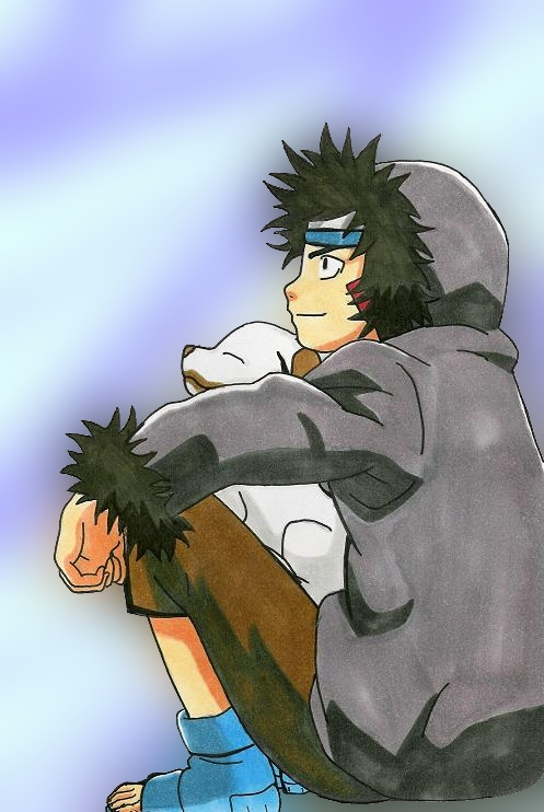 Kiba Inuzuka and Akamaru by royally_spooky