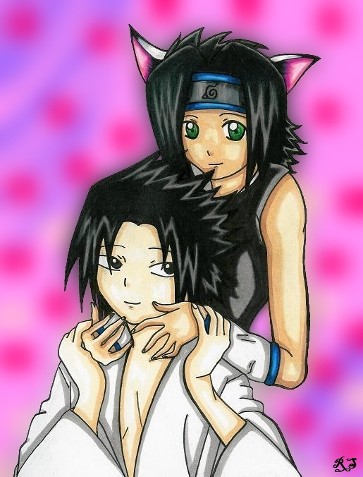 Sofy and Sasuke (Art-Trade with Sofyuchiha9) by royally_spooky