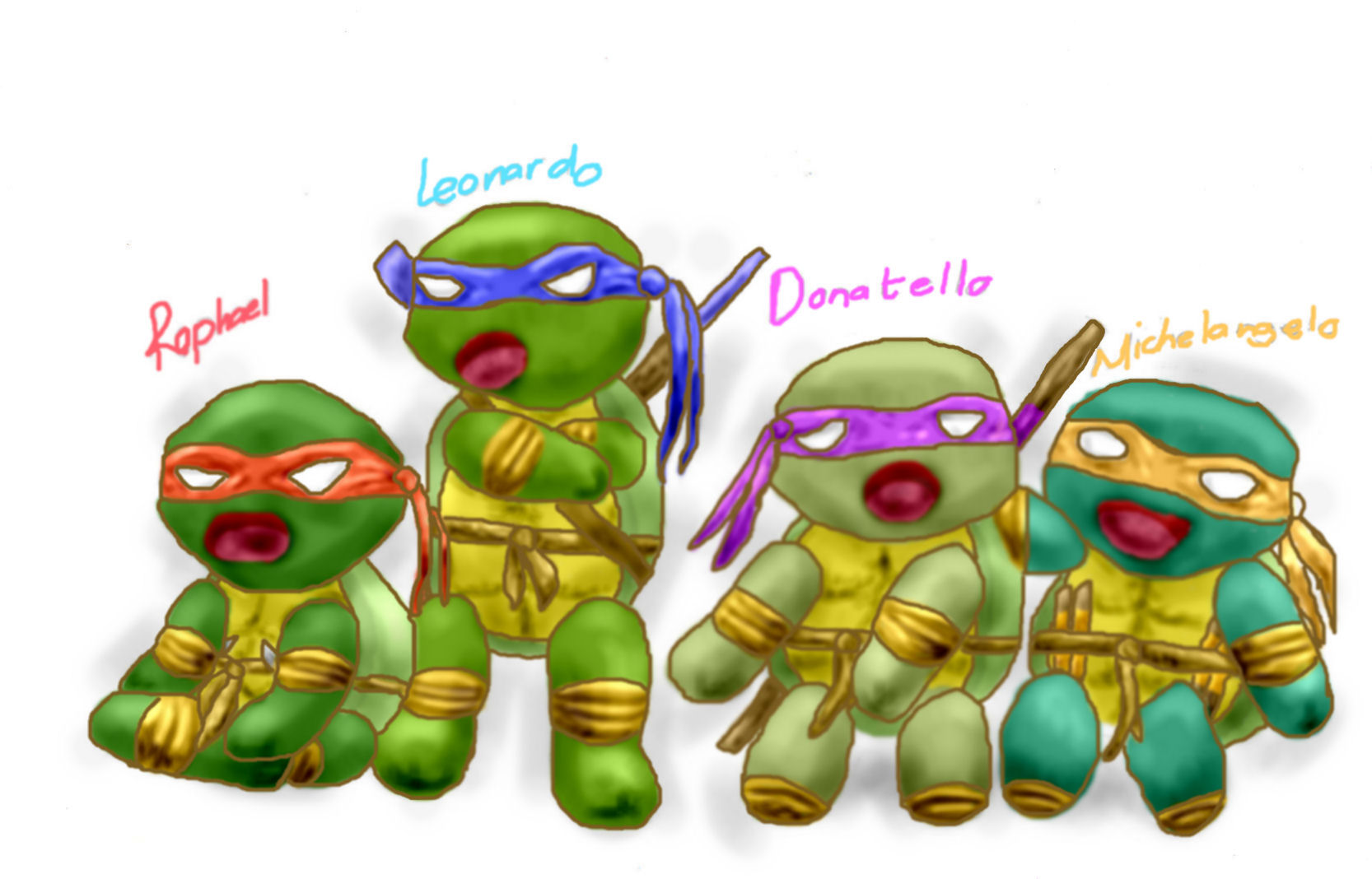 Chibi Turtles = slightly by rufus008