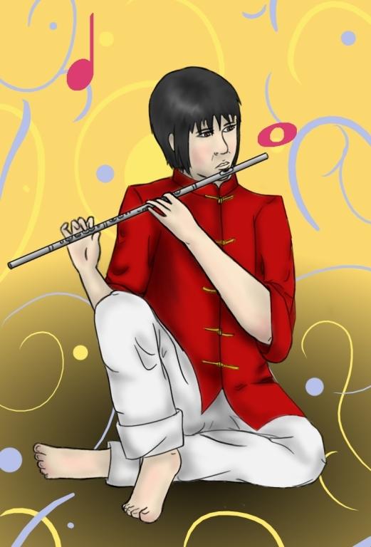The Flutist by ryuuryuu