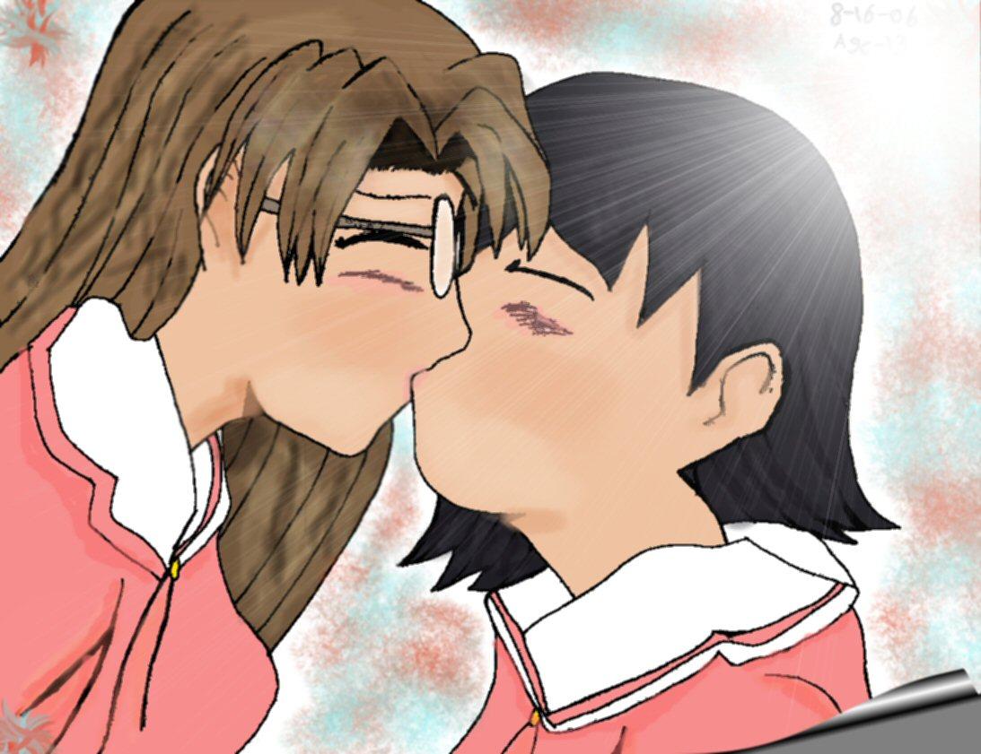 Yomi and Tomo share a kiss by SSGoshin4