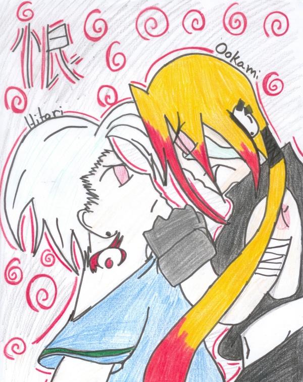 Ookami and Hitori by SageCardcaptor