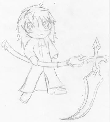 Chibi Marluxia Sketch by SaikieChan