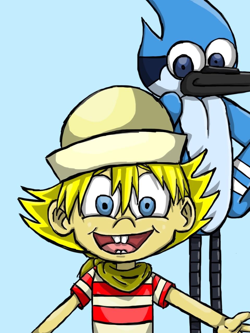 Flapjack and Mordecai fan art by SailorSeiyaDigiJem