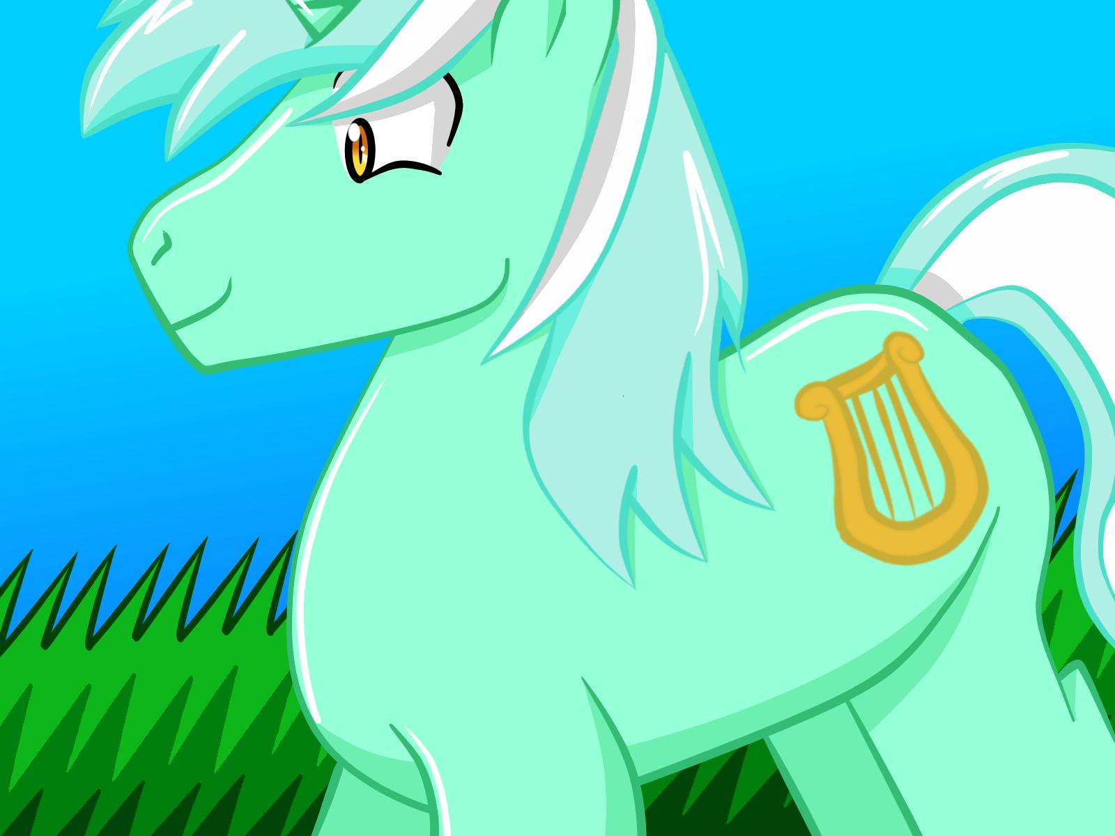 r63 Lyra Heartstring as non-anthro pony by SailorSeiyaDigiJem