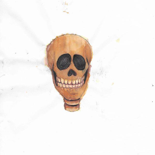 Orange Skull by SailorSeiyaDigiJem