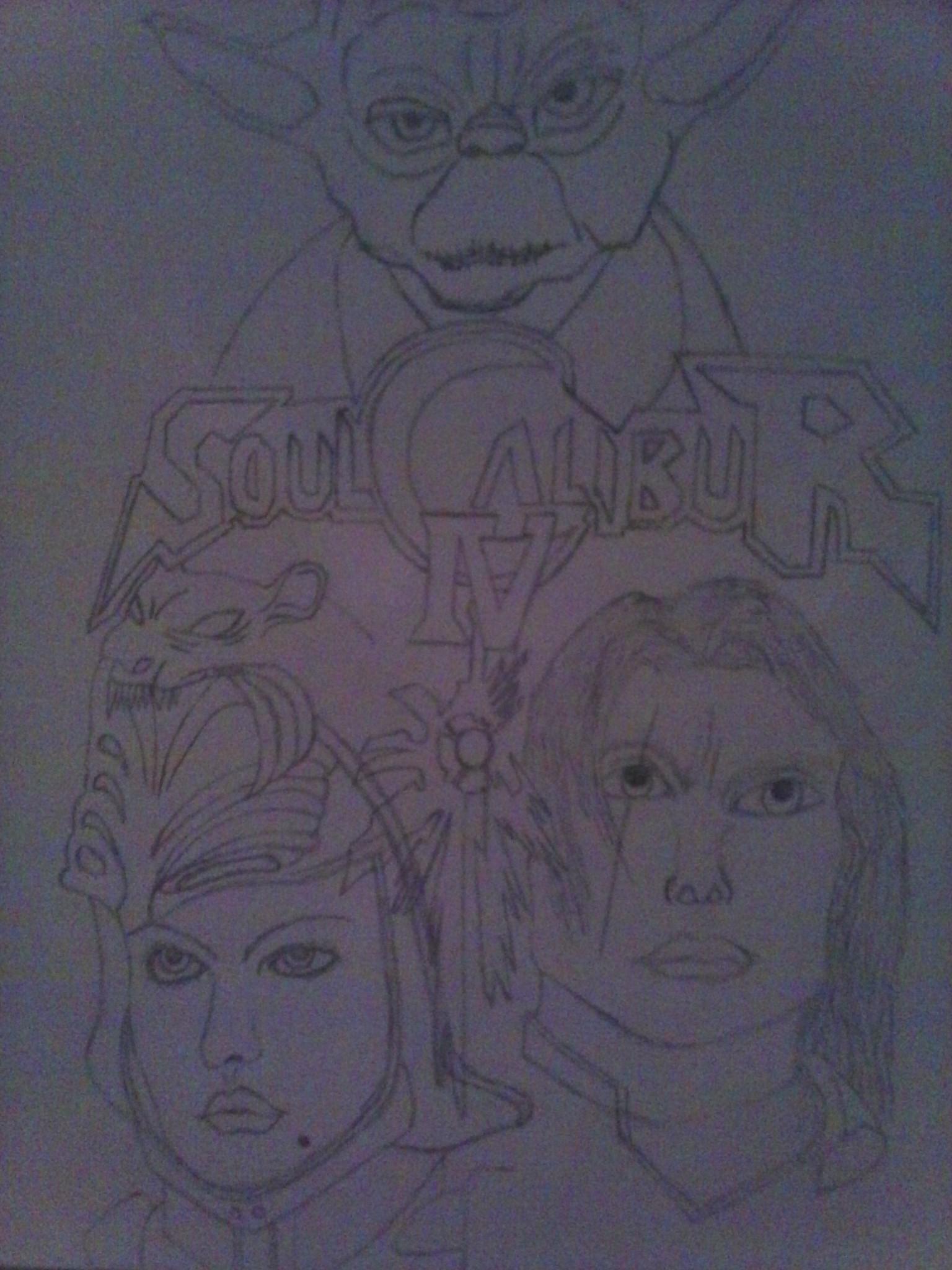 Soul calibur case drawing by SaiyanLink