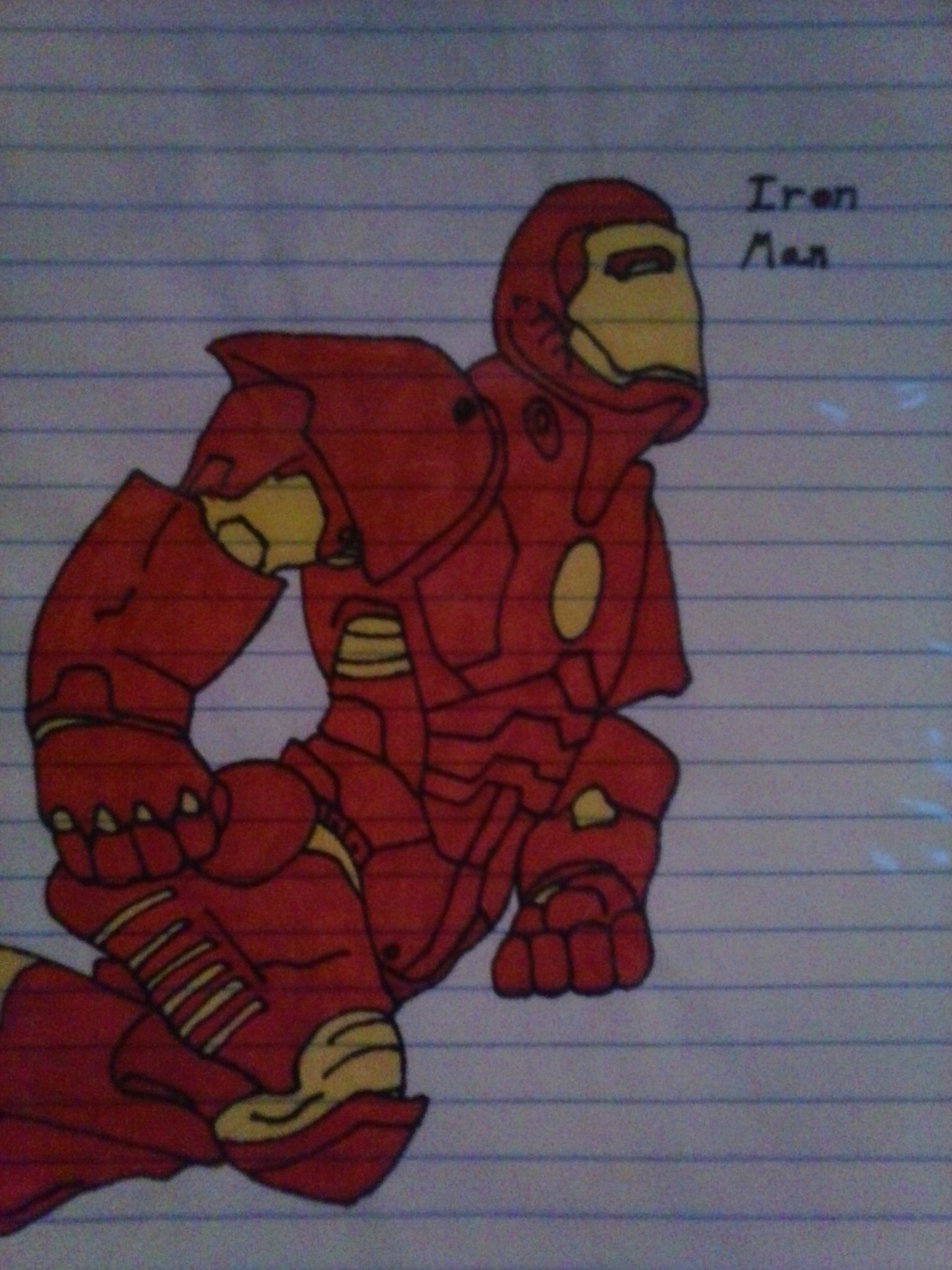 Iron man flying by SaiyanLink