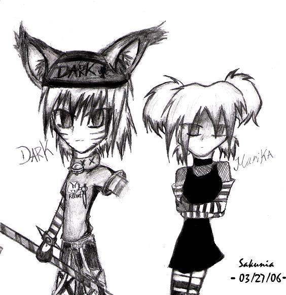 Dark and Marika *request* by Sakunia