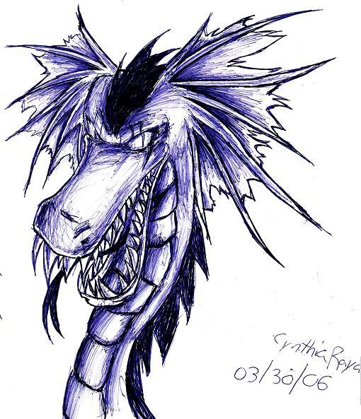 dragon >_> by Sakunia