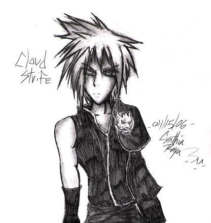 Cloud strife *request!* by Sakunia