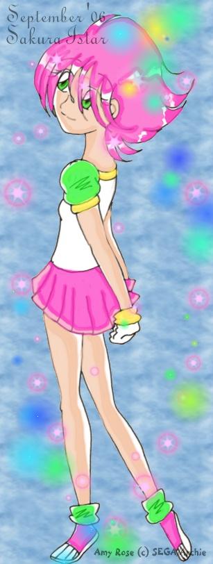 Amy Rose Human by Sakura_Istar