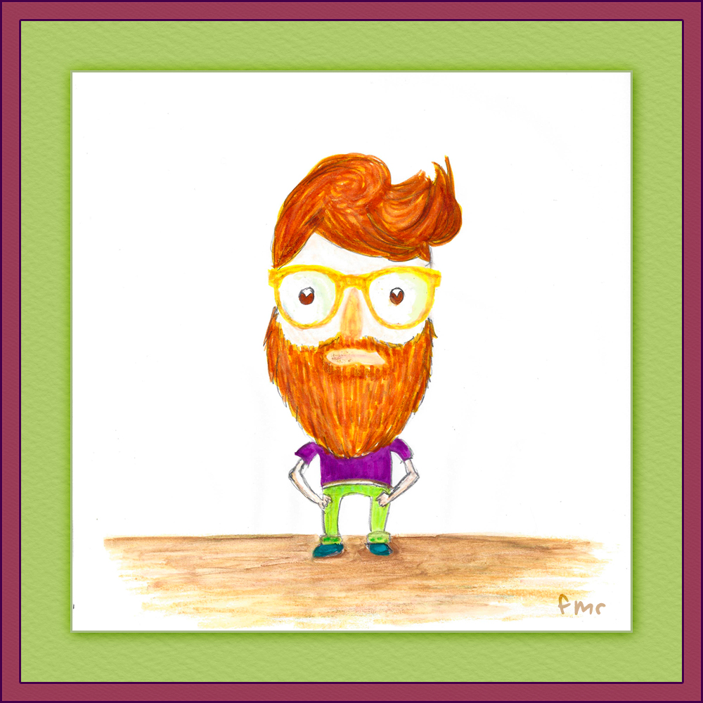 Hipster Man by Saltwater