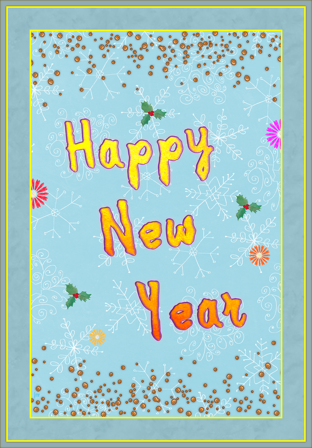 Greeting Card - Happy New Year by Saltwater