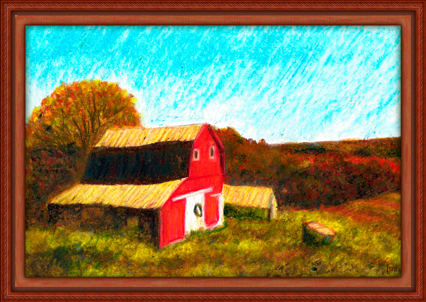 Red Barn by Saltwater