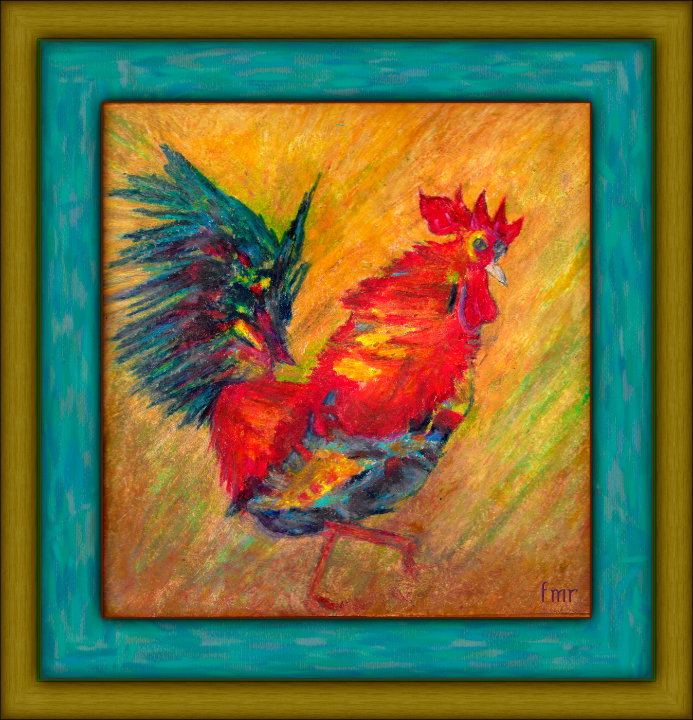 Rooster by Saltwater