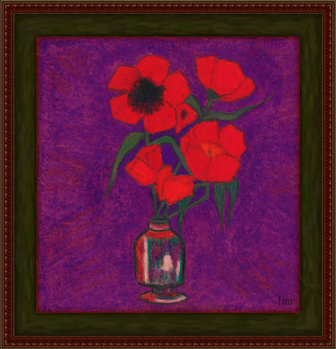 Vase of Poppies by Saltwater