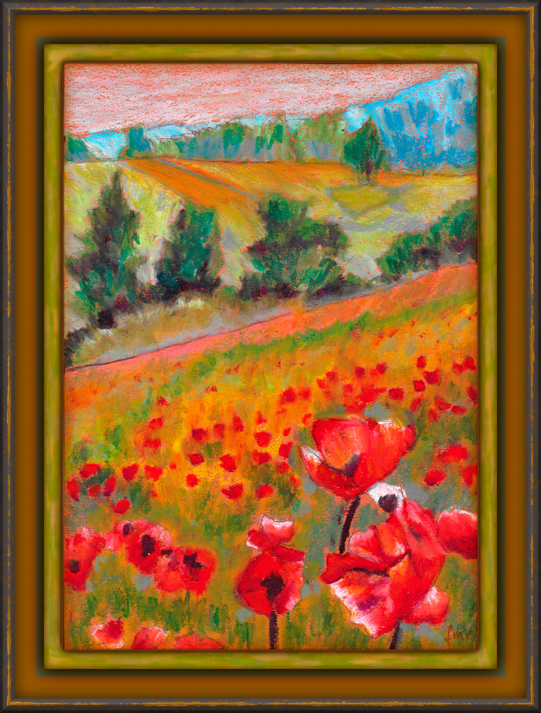 Fields of Poppies by Saltwater
