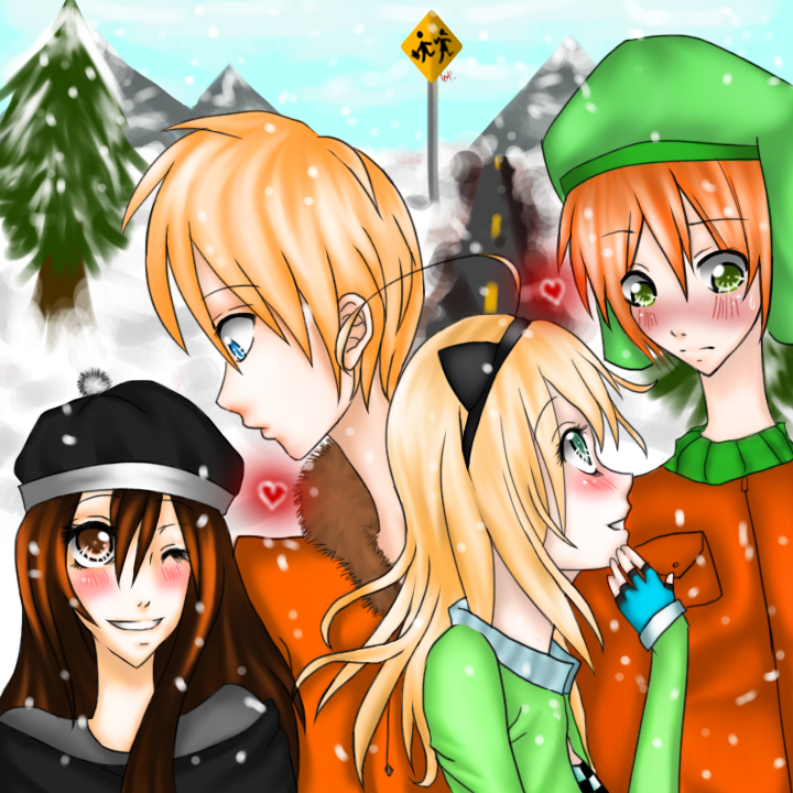 SouthPark Double Date(RQ) for dingoy_x_chan by SatomiTakashida