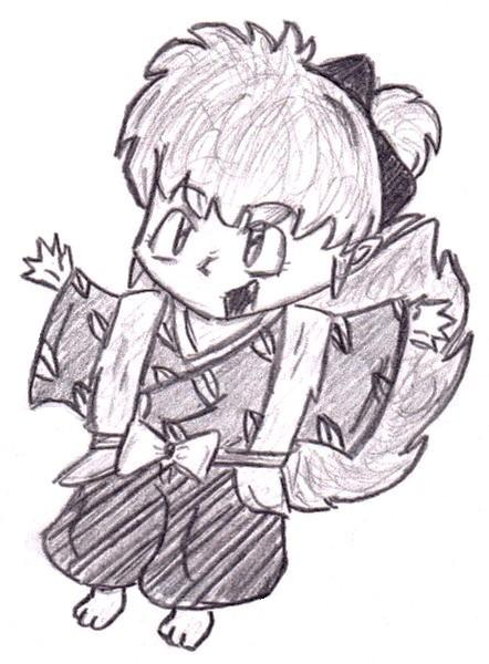 Shippo the fox demon by ScarHeart666