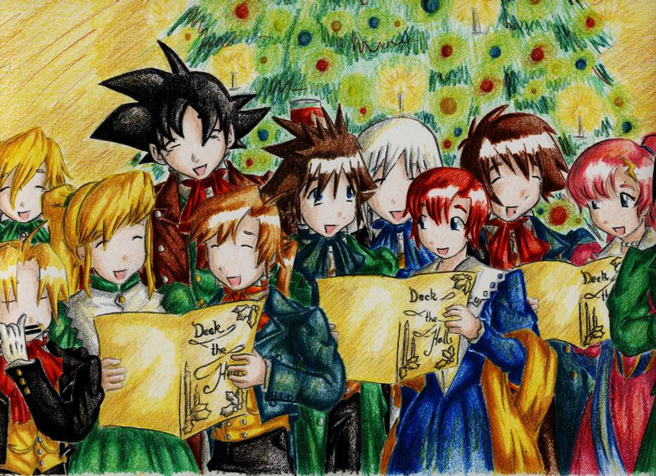 Anime Christmas Crossover by SeanHalnais