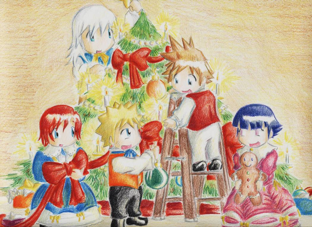 Chibi Tree Decorating by SeanHalnais
