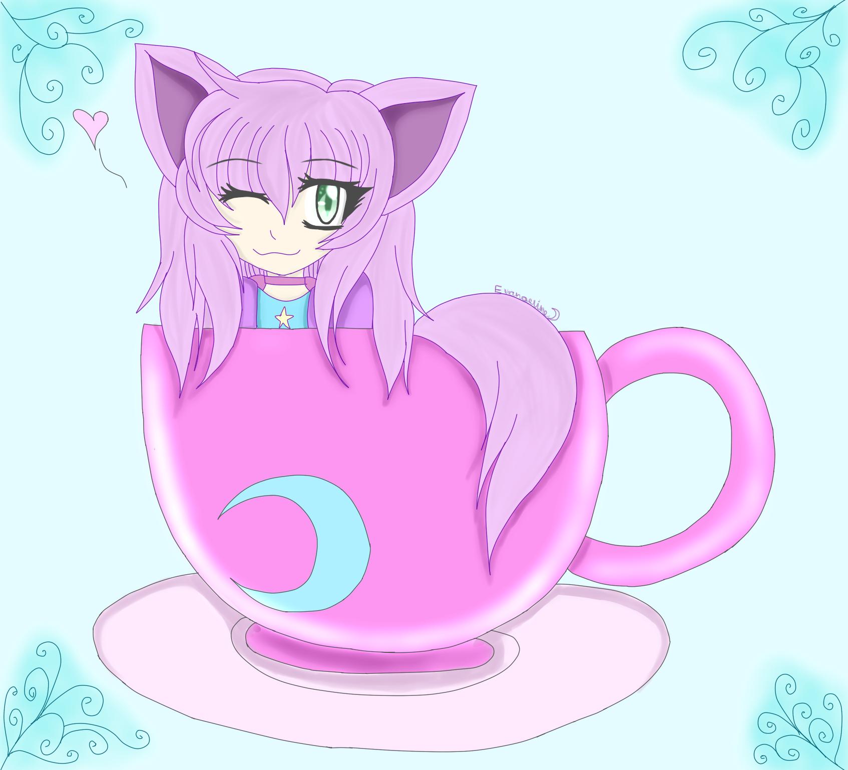 Teacup Kitten by Seina