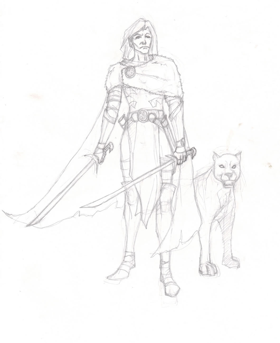 drizzt and his panther by Selkirk