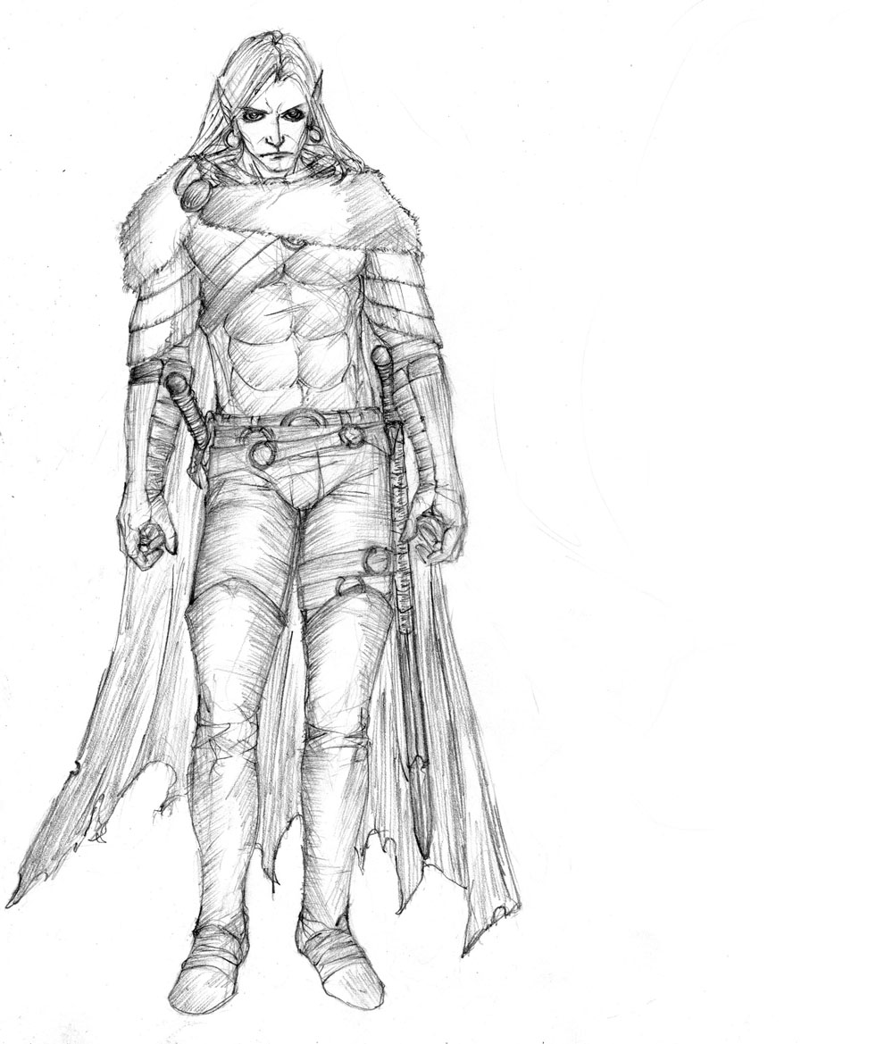 drizzt stands by Selkirk