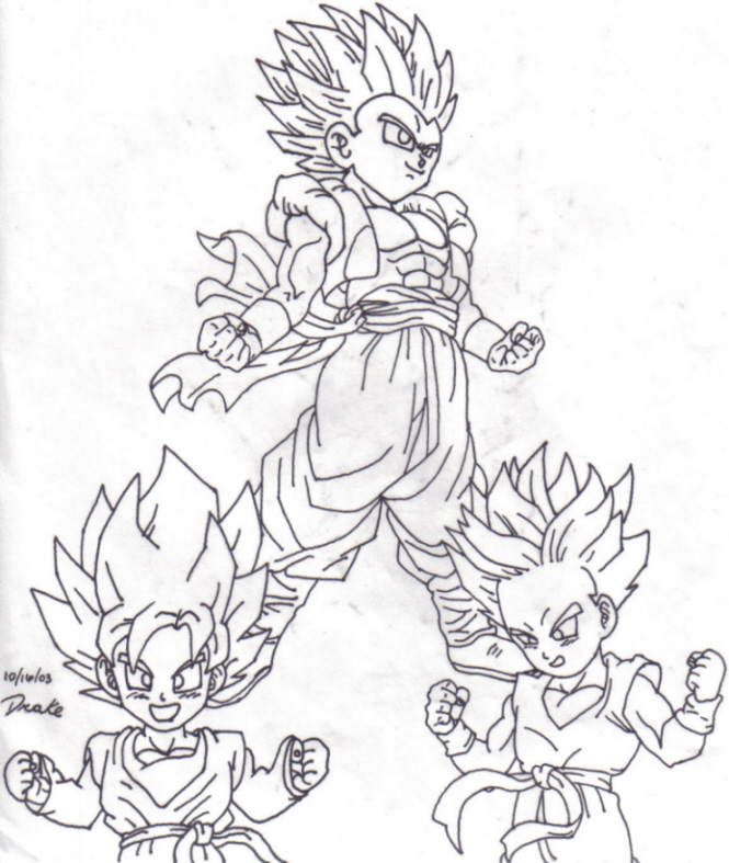 gotenks coloring pages - photo#22