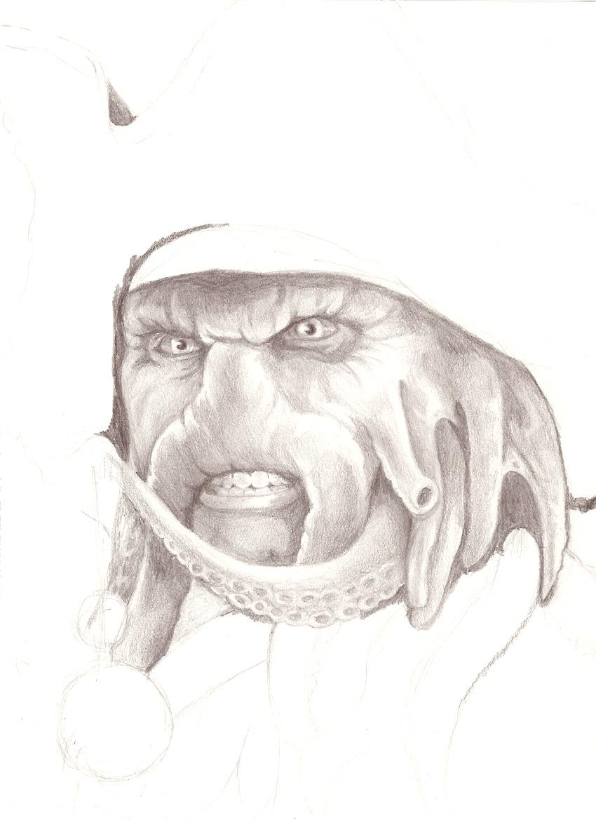 Unfinished Squid-Face by Sepia