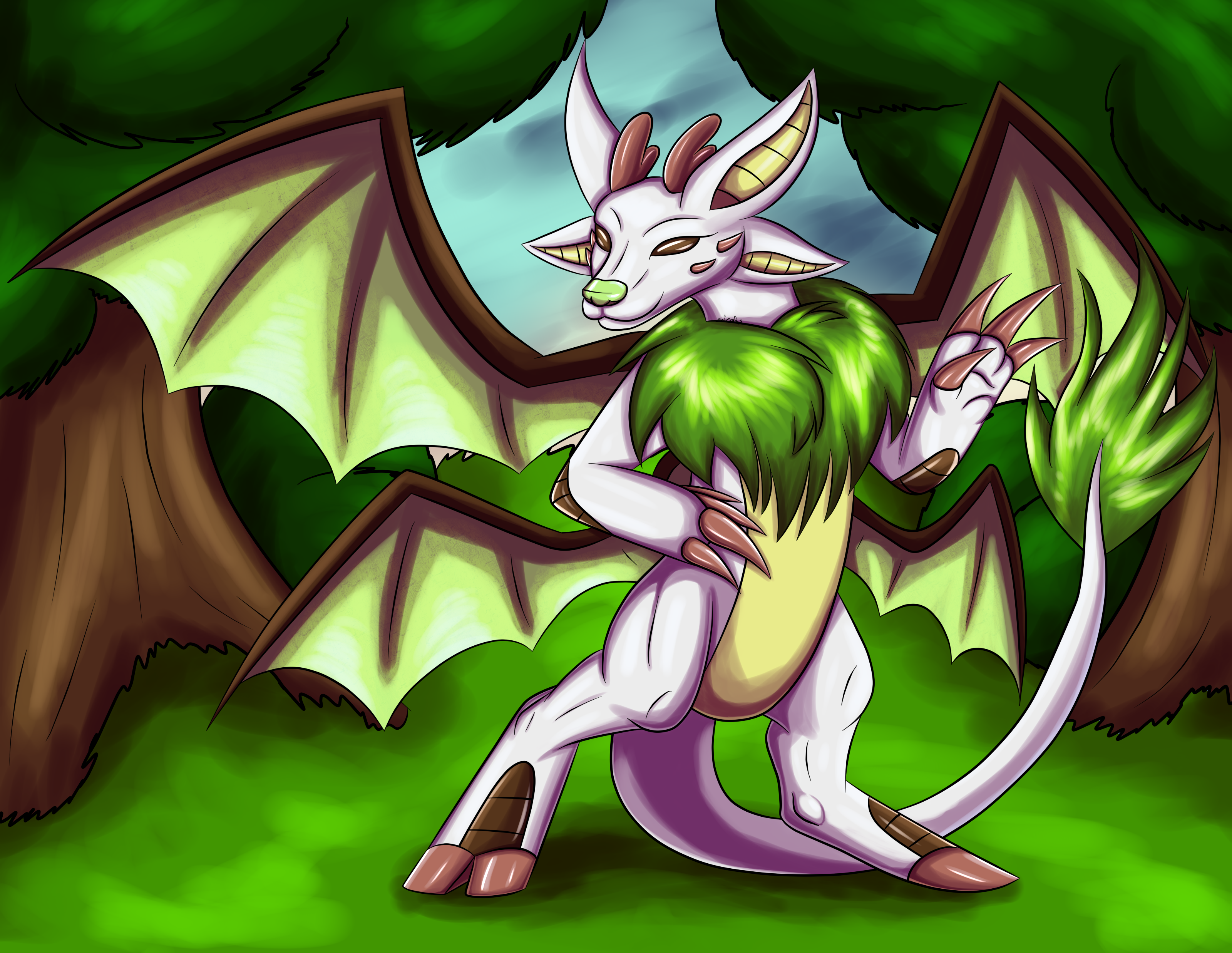 Noa Fiendish drake first encounter with background by Shadow-Lugia-XD001