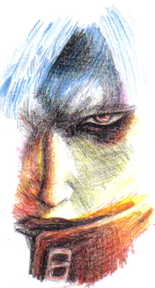 Dante Drawn In Crayon by ShadowAsoka