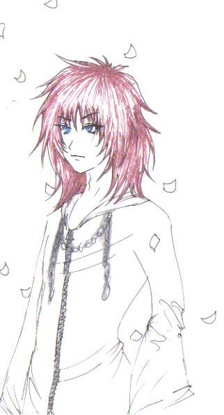Marluxia Sketch by ShadowAsoka