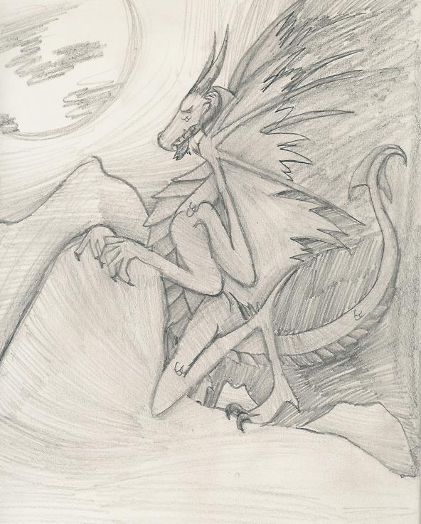 Night dragon by ShadowDragon2