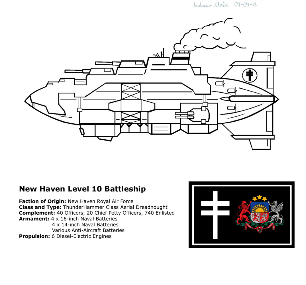 New Haven Battleship Concept by ShadowFalcon