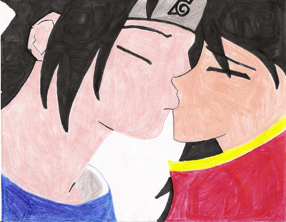 Sasuke & Rei Kissing by Sharidaken_Tranqity